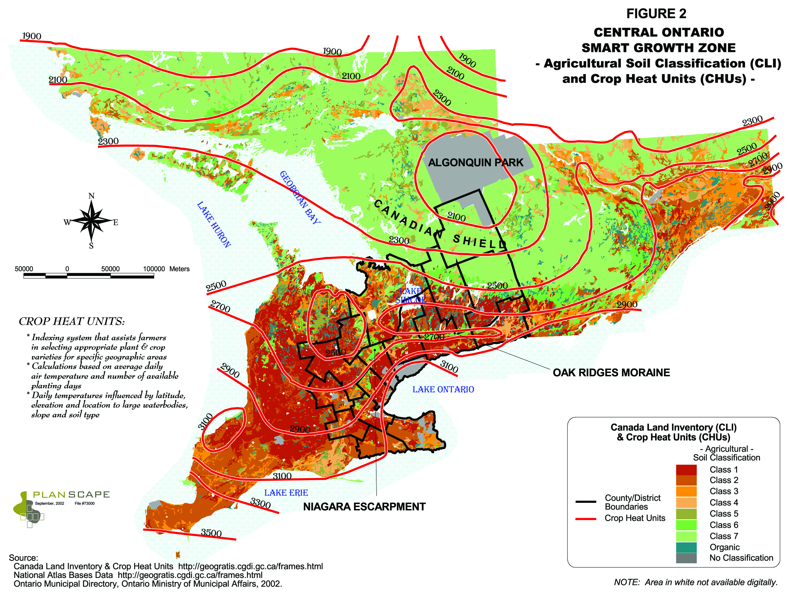 Where are significant agricultural lands located Neptis Foundation