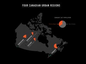 Four Canadian Urban Regions