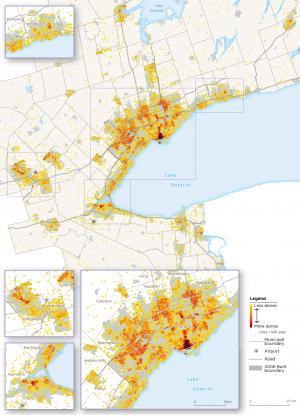 Map 1:  Core Employment, GGH, 2016