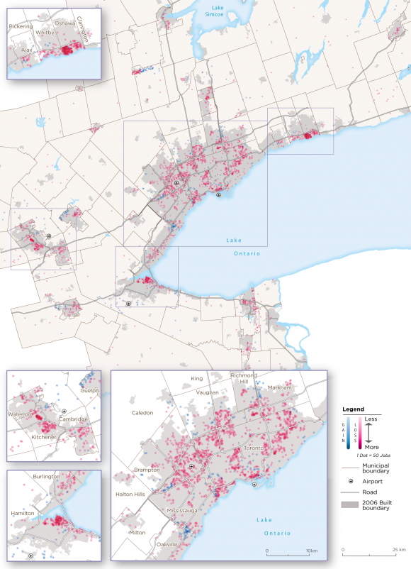 Map 32:  Other Manufacturing Archetype Employment Change, GGH, 2006-2016