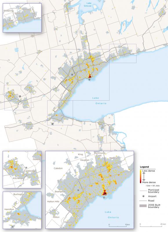 Map 5:  Finance Archetype Employment, GGH, 2016