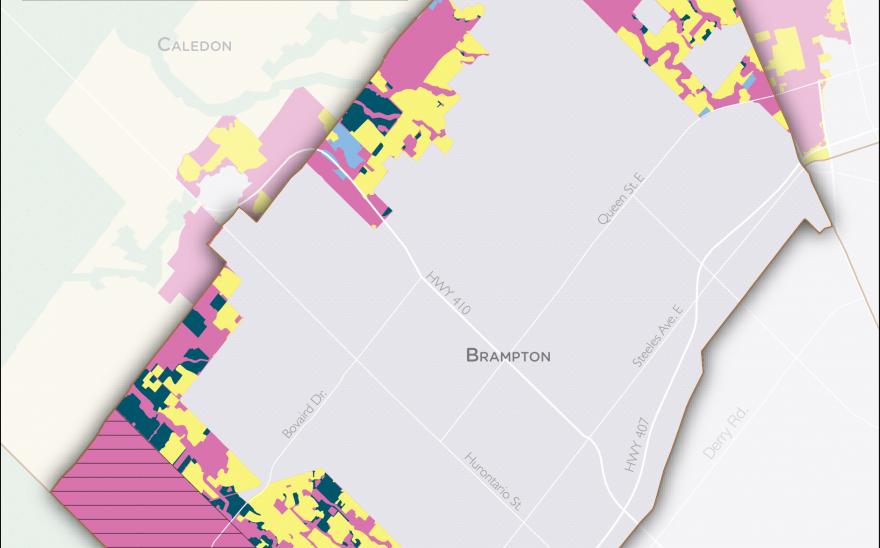 Serviced Land Map Brampton