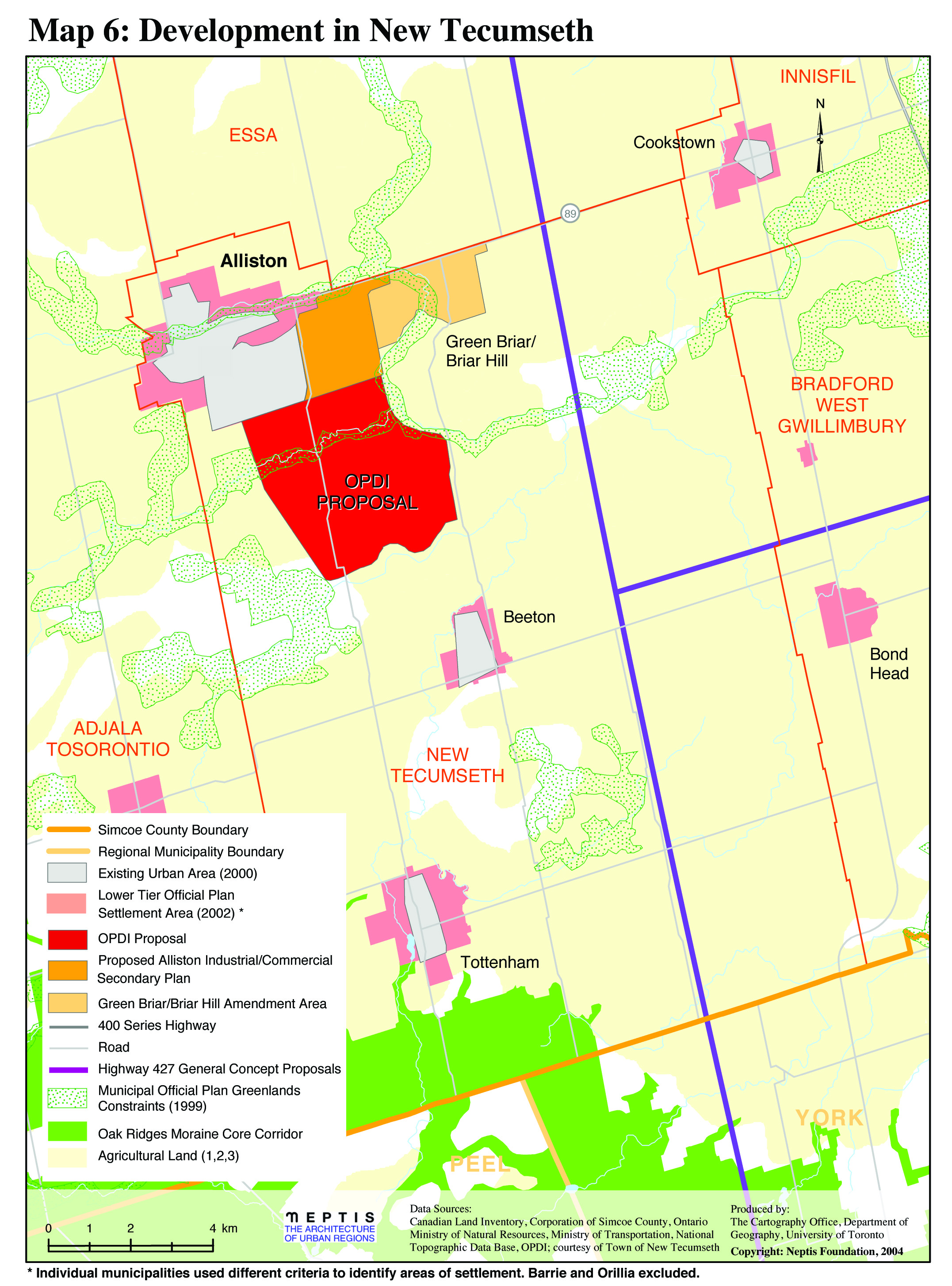 Proposed Large Scale Developments In Simcoe County Neptis