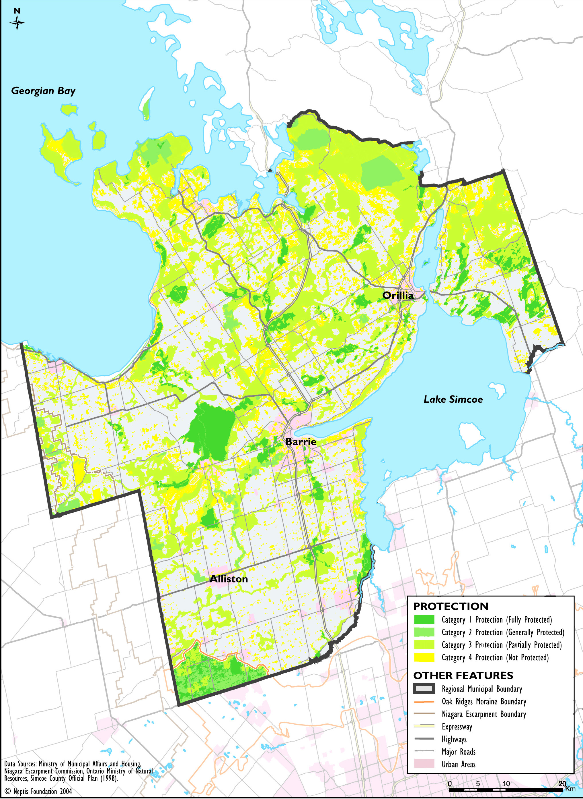 Simcoe County Forest Map County of Simcoe | Neptis Foundation Simcoe County Forest Map